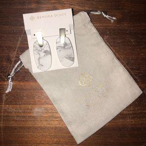 Kendra Scott Aragon Gold & Marble Drop Earrings
